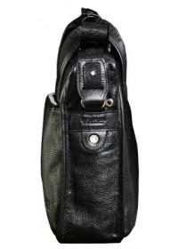 Добротный портфель модного черного цвета 7044