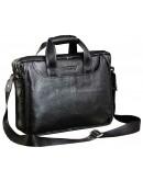 Фотография Добротный портфель модного черного цвета 7044
