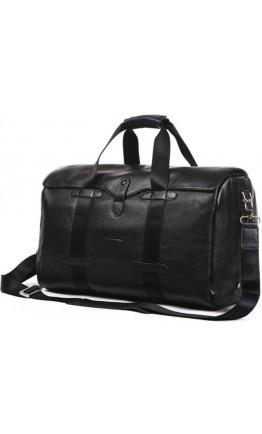 Вместительная черная кожаная мужская сумка Bn7045