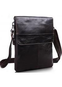 Стильная темно-коричневая сумка на плечо 7051
