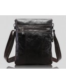 Фотография Стильная темно-коричневая сумка на плечо 7051