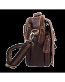 Фотография Маленькая кожаная коричневая сумка на плечо 70054