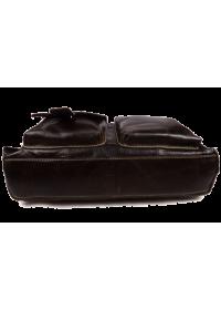 Удобная коричневая мужская сумка - портфель из кожи 7057