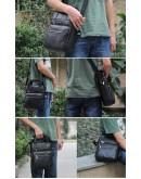 Фотография Удобная мужская сумка на плечо и в руку 7061