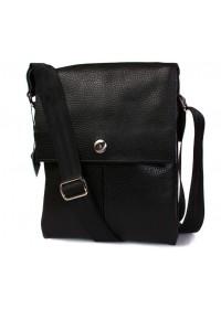 Стильная и модная кожаная сумка на плечо 7098 черная