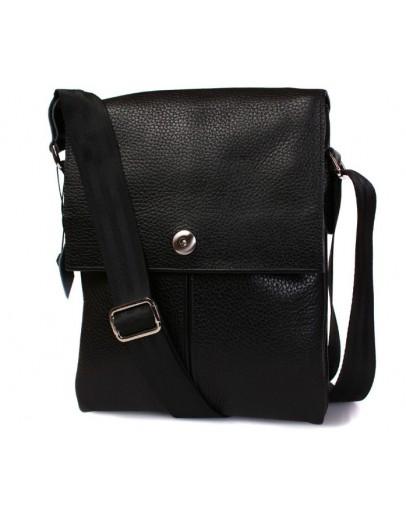 Фотография Стильная и модная кожаная сумка на плечо 7098 черная