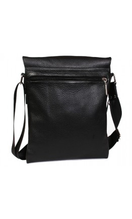Классная повседневная черная кожаная сумка 7099