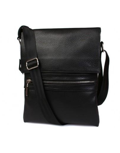 Фотография Классная повседневная черная кожаная сумка 7099
