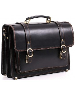 Кожаный портфель Manufatto гладкий, говяжья кожа 1-sps black