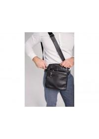 Черная мужская сумка на плечо Tiding Bag 1007A