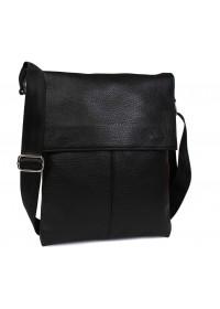 Вместительная и стильная черная сумка на плечо 7101