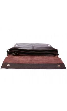 Большая сумка коричневого цвета на плечо из кожи 7102br