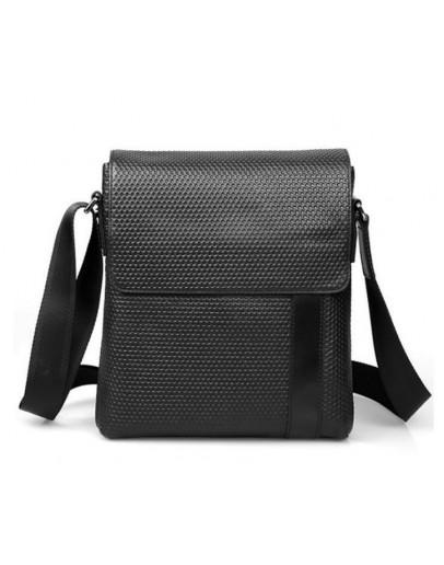 Фотография Модная мужская черная сумка на плечо 71032