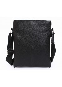 Классическая черная повседневная сумка на плечо 7104