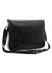 Повседневная стильная кожаная мужская черная сумка 71047