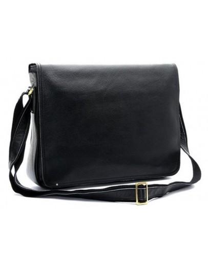 Фотография Повседневная стильная кожаная мужская черная сумка 71047