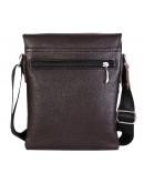 Фотография Удобная кожаная сумка на каждый день 7106 коричневая