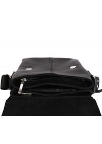 Практичная стильная повседневная сумка на плечо 7106 черная
