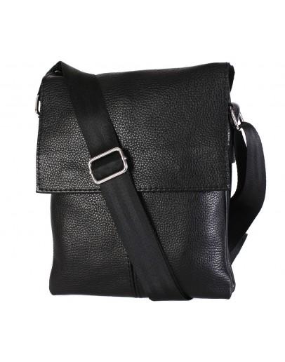 Фотография Практичная стильная повседневная сумка на плечо 7106 черная