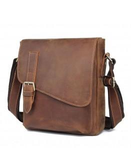 Кожаная коричневая мужская сумка на плечо 1061-B7