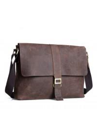 Качественная сумка на плечо из говяжьей кожи 71071