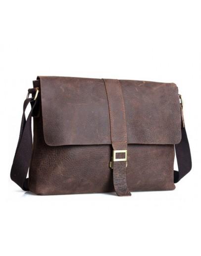 Фотография Качественная сумка на плечо из говяжьей кожи 71071