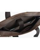 Фотография Темно-коричневый мужской портфель с двумя лицевыми карманами 71080