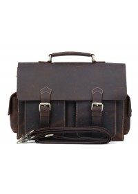Компактный кожаный портфель идеального качества 71088