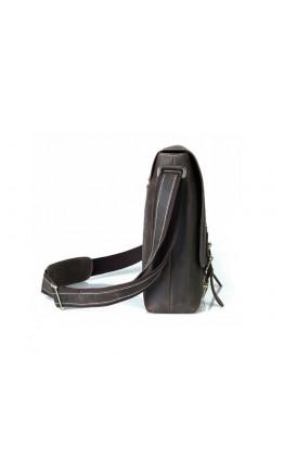 Большая мужская коричневая сумка на плечо 71093