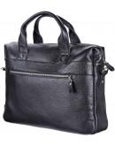 Фотография Кожаная черная мужска сумка для ноутбука SHVIGEL 11000