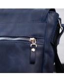 Фотография Синяя кожаная плечевая сумка SHVIGEL 11015