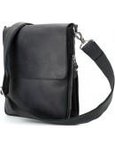 Фотография Сумка черная винтажная кожаная на плечо SHVIGEL 11017
