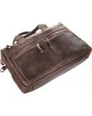 Фотография Коричневая мужская кожаная винтажная сумка SHVIGEL 11020