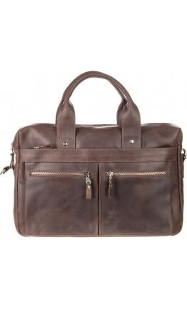 Коричневая мужская кожаная винтажная сумка SHVIGEL 11020