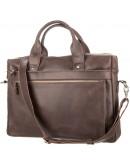 Фотография Коричневый кожаный мужской винтажный портфель SHVIGEL 11026