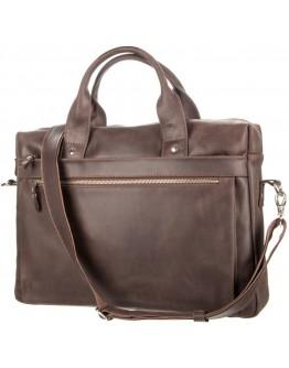 Коричневый кожаный мужской винтажный портфель SHVIGEL 11026