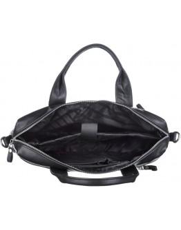 Черная кожаная мужская сумка для документов SHVIGEL 11036