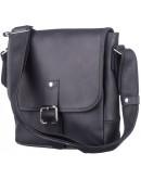 Фотография Сумка на плечо черная из винтажной кожи SHVIGEL 11037