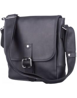 Сумка на плечо черная из винтажной кожи SHVIGEL 11037