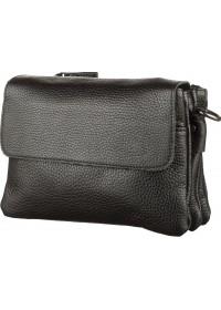 Черный мужской клатч и сумка на плечо SHVIGEL 11038