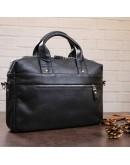 Фотография Черная мужская кожаная сумкка деловая SHVIGEL 11041