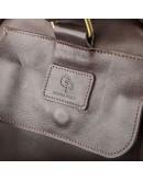 Фотография Дорожная коричневая сумка из гладкой кожи Grande Pelle 11044