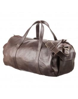 Дорожная коричневая сумка из гладкой кожи Grande Pelle 11044