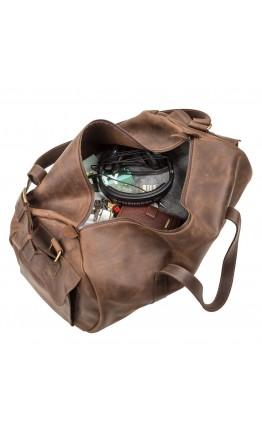 Дорожная коричневая винтажная сумка Grande Pelle 11045
