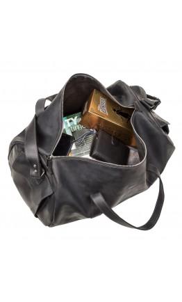 Черная мужкая дорожная сумка из винтажной кожи Grande Pelle 11046