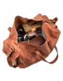 Фотография Дорожная коричневая винтажная сумка Grande Pelle 11047