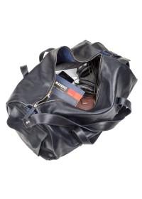 Синяя мужская кожаная сумка для командировок Grande Pelle 11049