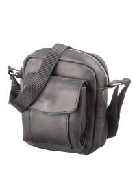 Маленькая черная кожаная сумка на плечо SHVIGEL 11076