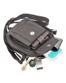 Фотография Маленькая черная кожаная сумка на плечо SHVIGEL 11076