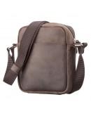 Фотография Маленькая кожаная коричневая сумка на плечо SHVIGEL 11077